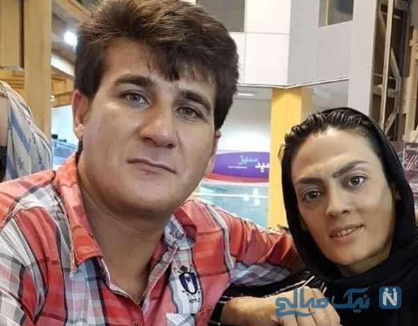 تصویری از شهربانو منصوریان همسرش