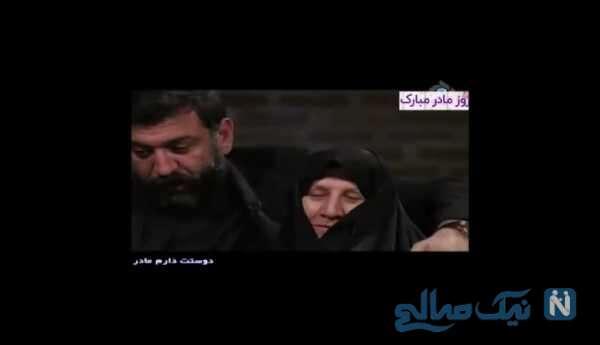 اشک های علی انصاریان در ویژه برنامه روز مادر
