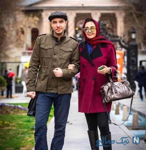 کتایون ریاحی بازیگر زن و پسرش