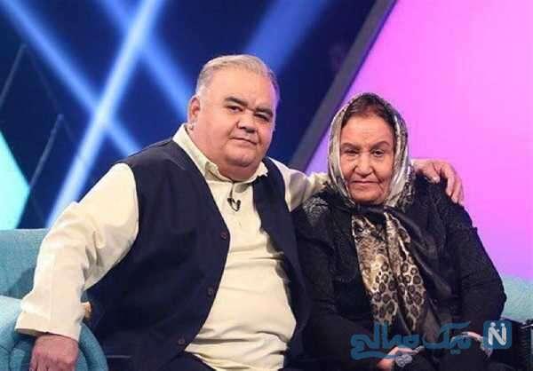 اکبر عبدی و مادرش