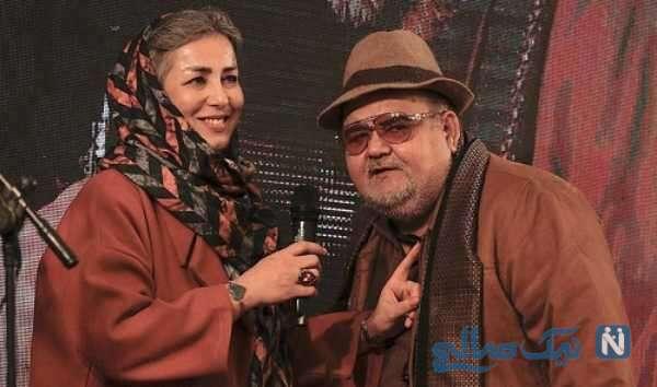 اکبر عبدی بازیگر سینما و همسرش