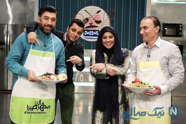 آشپزی علی انصاریان در تلویزیون