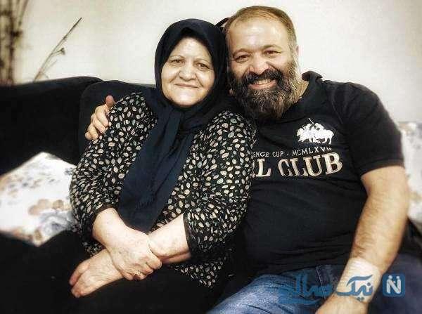 عکس جالب آقای بازیگر در کنار مادرش