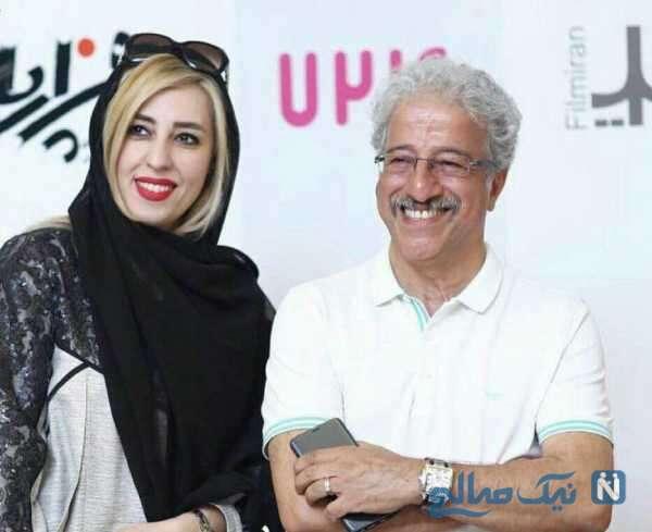 علیرضا خمسه هنرپیشه معروف و همسرش