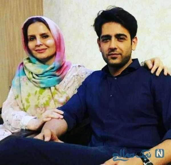 امیرحسین آرمان بازیگر ایرانی و مادرش