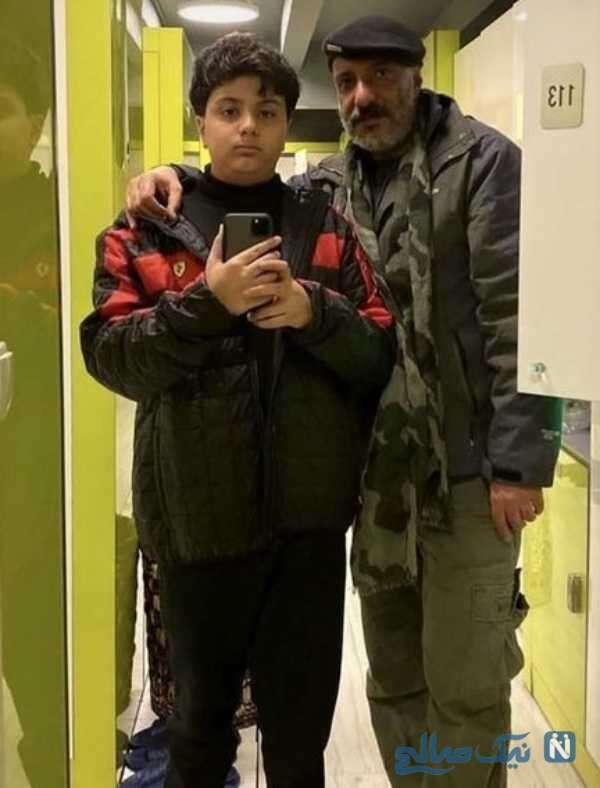 سلفی امیر جعفری و پسرش