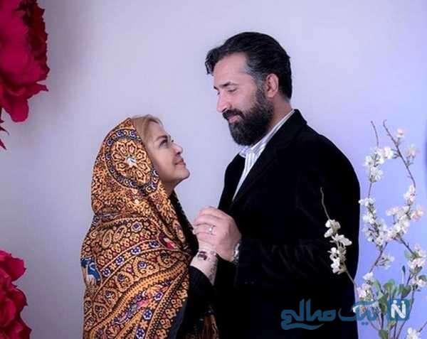 بهاره رهنما بازیگر تلویزیون و همسرش