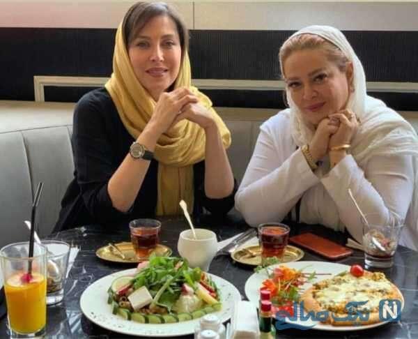 بهاره رهنما رستوران به همراه خانم بازیگر