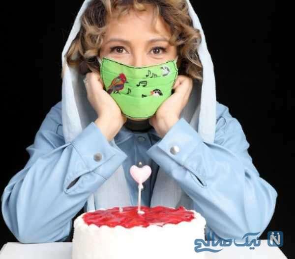 کیک تولد 51 سالگی پانته آ بهرام