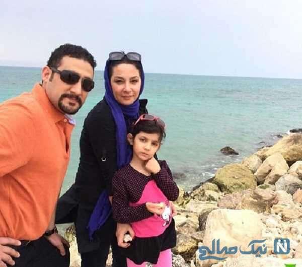 لاله صبوری و همسر دومش در کنار دخترشان