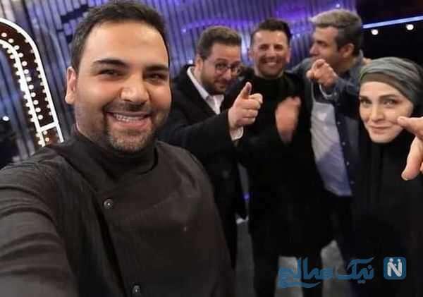 عکس سلفی احسان علیخانی با داوران برنامه عصر جدید