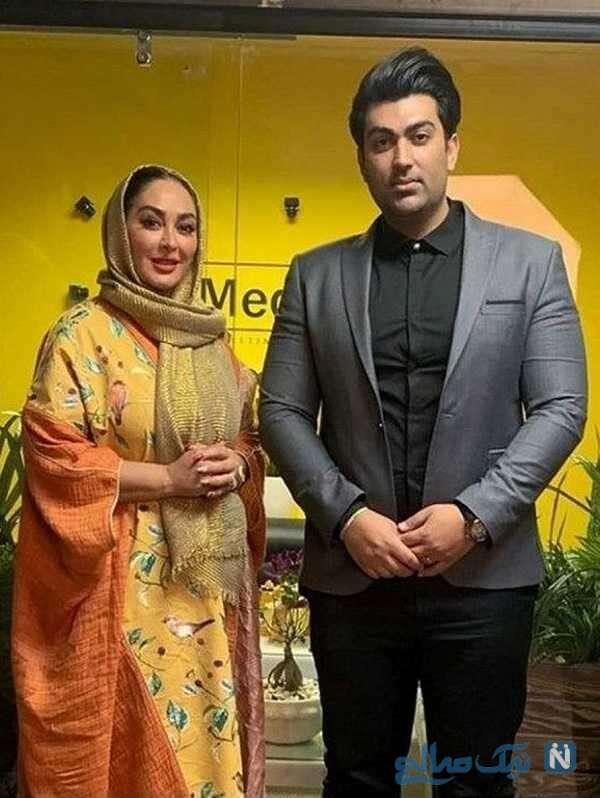 عکس الهام حمیدی با همسر جدیدش