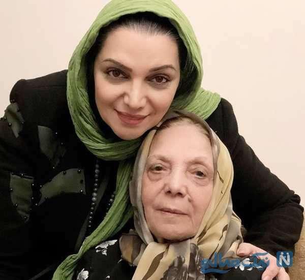 الهام پاوه نژاد هنرپیشه معروف و مادرش