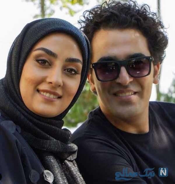 الهام طهموری بازیگر پدر در کنار همسرش