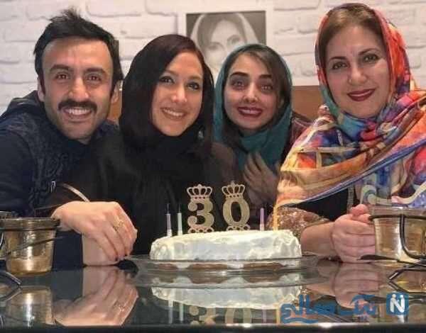 جشن تولد دختر فاطمه گودرزی بازیگر
