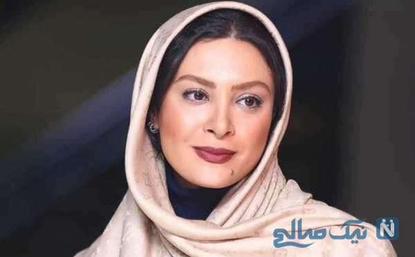 ناراحتی و دلواپسی حدیثه تهرانی بازیگر سینما برای حال بد همسرش کیان