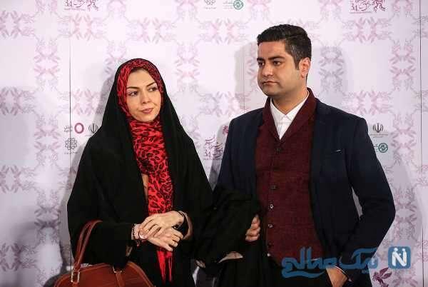 تصویر آزاده نامداری و همسرش