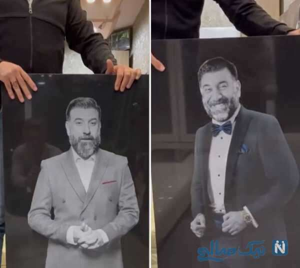 نصب سنگ مزار علی انصاریان بازیگر
