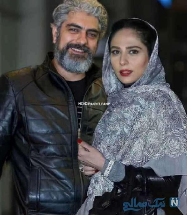 مهدی پاکدل و همسر جدیدش رعنا آزادی ور