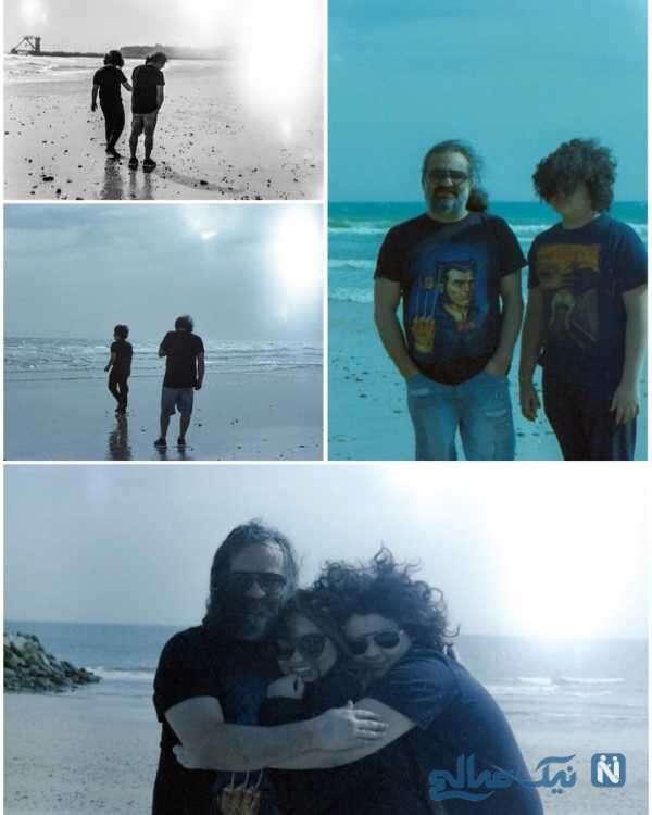 ساحل گردی مهراب قاسم خانی با دختر و پسرش