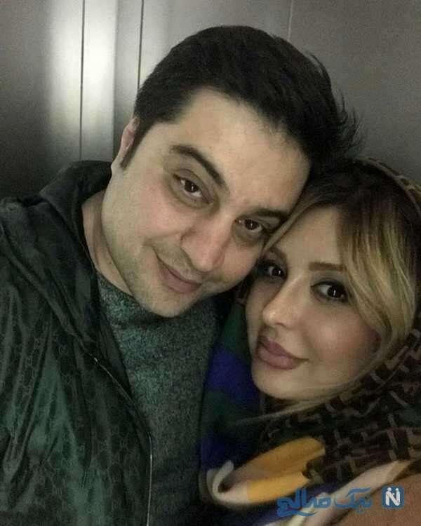سلفی نیوشا ضیغمی با همسرش