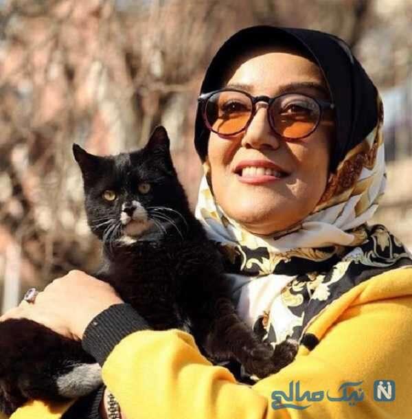 تصویر جالب از گربه پانته آ بهرام