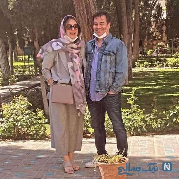 عکس جدید پیمان قاسم خانی و همسر دومش