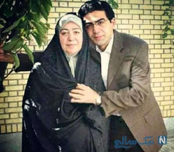 عکس فرزاد حسنی و مادرش