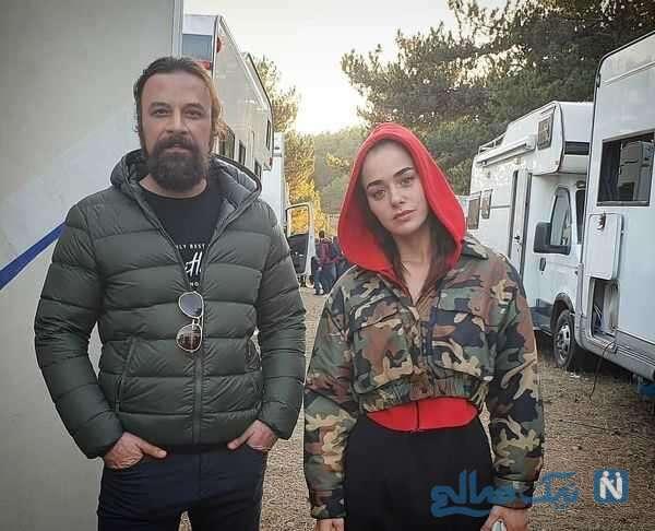 حسام منظور و بازیگر ترکیه ای