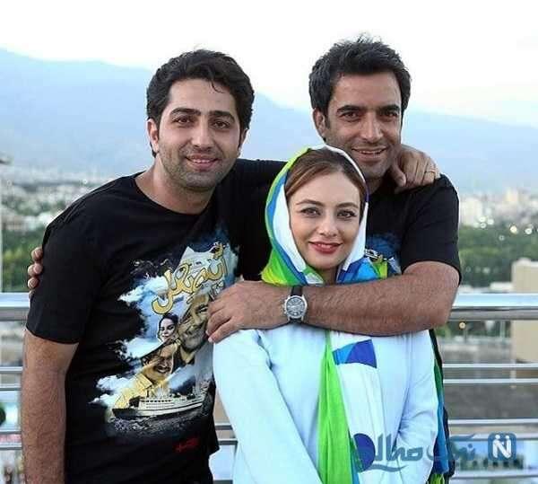 آقای بازیگر در کنار منوچهر هادی و همسرش