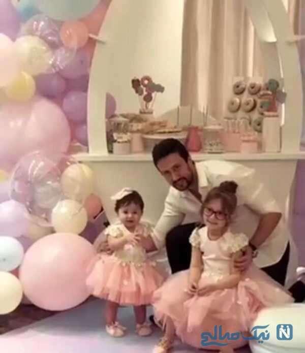 عکس شاهرخ استخری و فرزندانش
