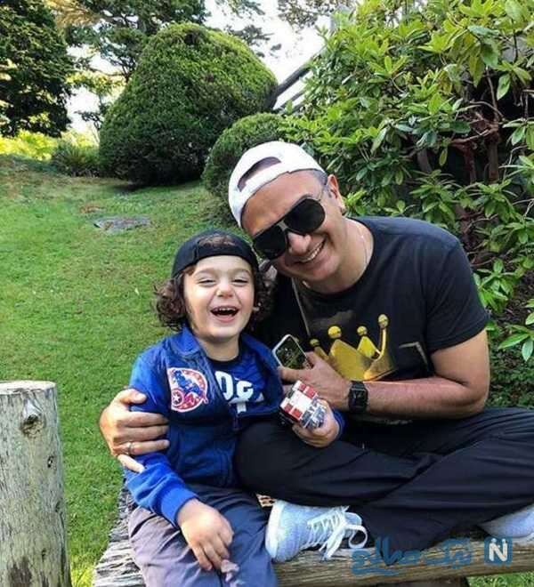 تصویر احسان کرمی و پسرش