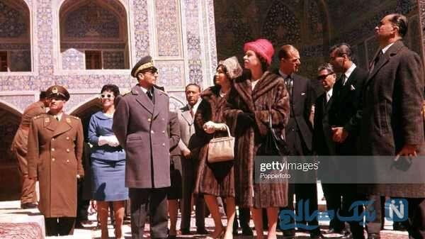ملکه انگلیس و همسرش در اصفهان