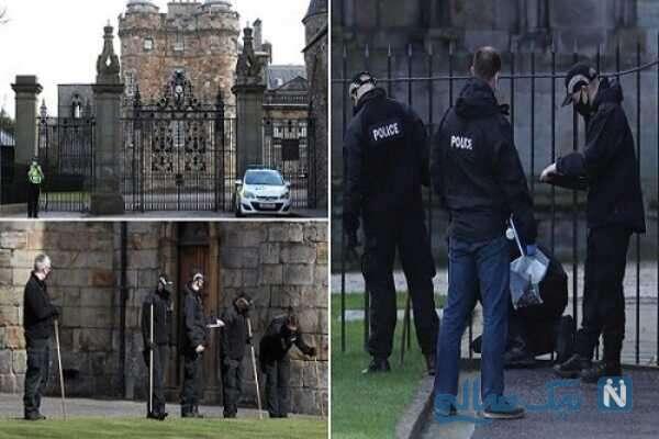 کشف بسته مشکوک به بمب در کاخ الیزابت دوم
