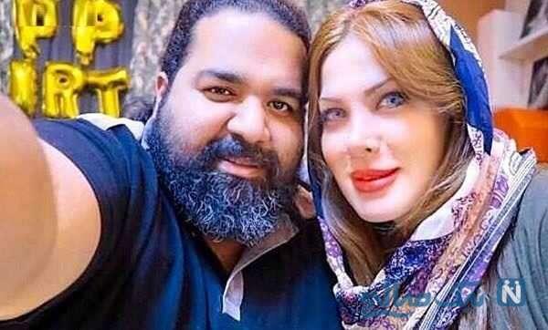 رضا صادقی خواننده ایرانی و همسرش
