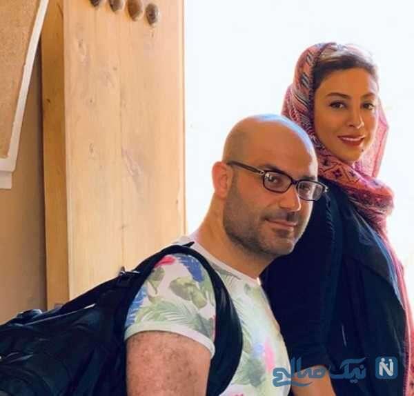 سلفی حدیثه تهرانی و همسرش