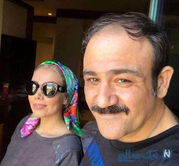 سلفی مهران غفوریان و همسرش