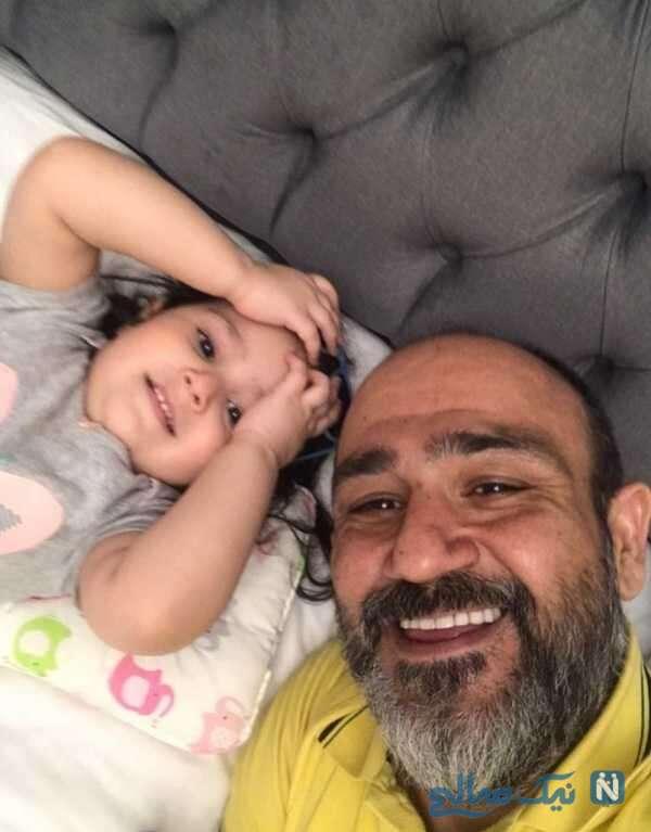 سلفی جالب مهران غفوریان و دخترش