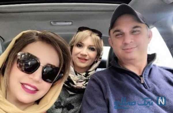 خانم بازیگر در کنار خواهر و برادرش