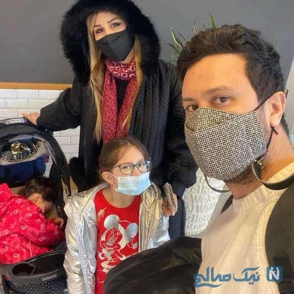 شاهرخ استخری در کنار خانواده اش