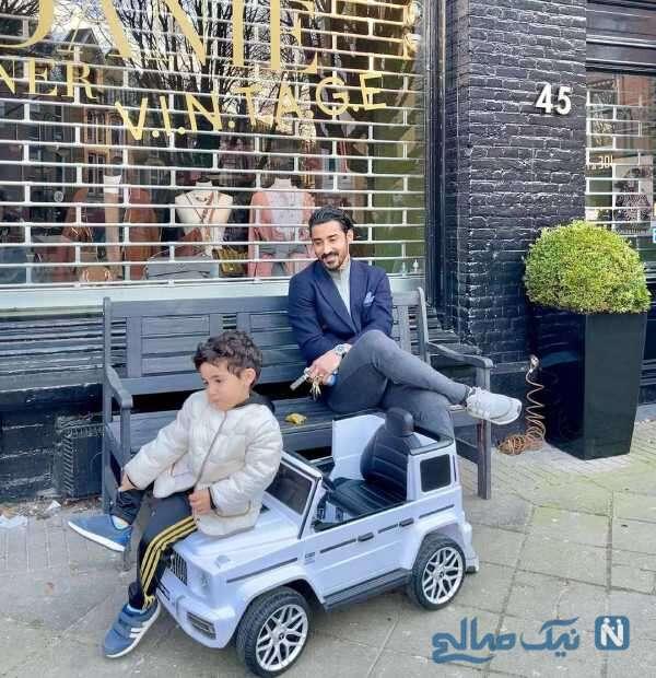 ماشین پسر رضا قوچان نژاد