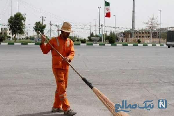 لحظه هولناک قتل رفتگر در تهران توسط راننده پراید