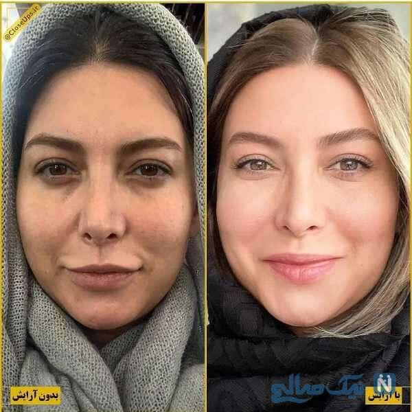 فریبا نادری قبل و بعد آرایش