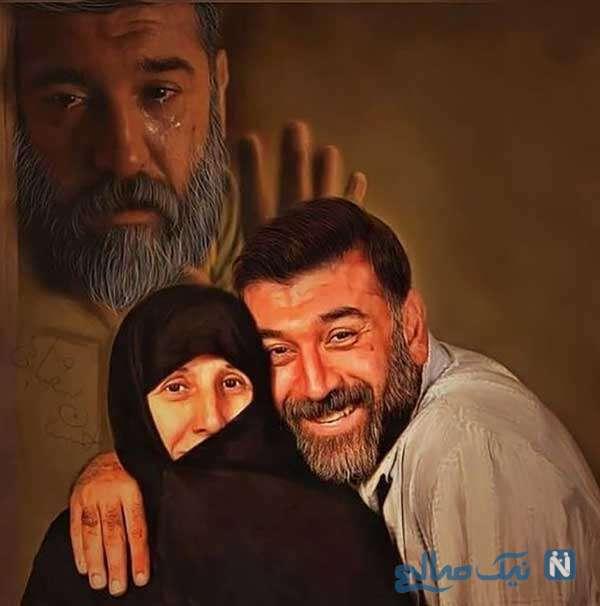 مرحوم علی انصاریان و مادرش