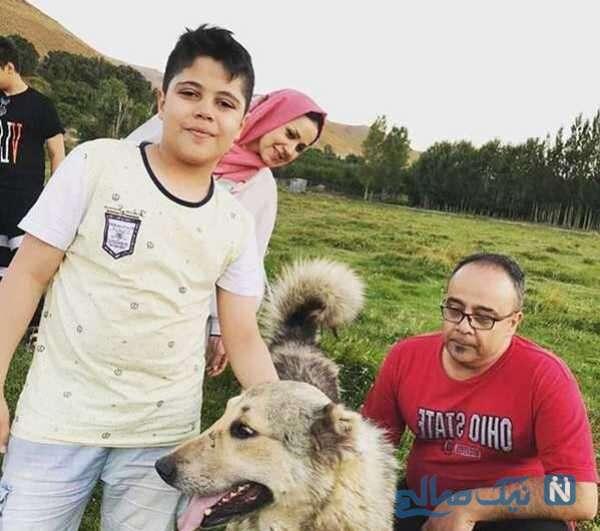 پسر و همسر علی ابوالحسنی بازیگر