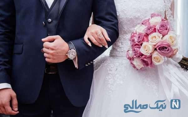 خشم عمومی از حضور توله شیر کنار عروس و داماد جوان در جشن عروسی