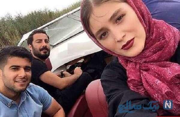 نوید محمدزاده و فرشته حسینی بازیگر