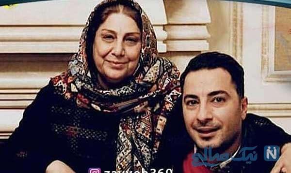 نوید محمد زاده و مادرش