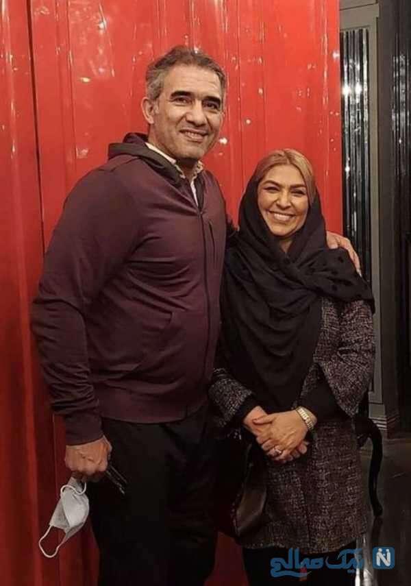 تصویری از احمدرضا عابدزاده با همسرش