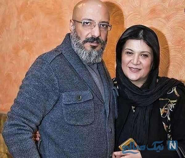 امیر جعفری هنرپیشه و همسرش